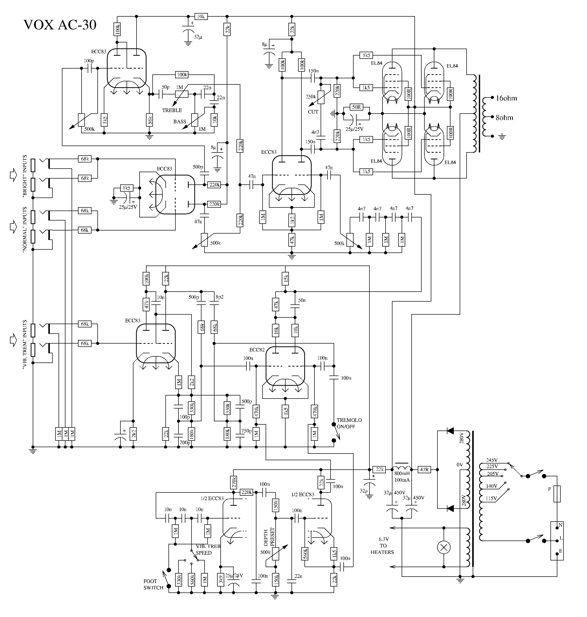 Similiar Vox Ac30 Schematic Keywords Wiring Dallas Get Free Image About